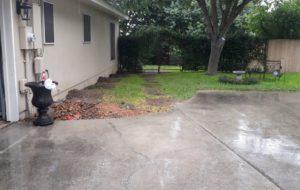 Backyard Foundation Repair by MitchCo
